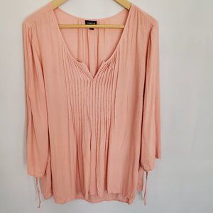 Torrid Peach Peasant Top Size 0